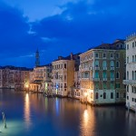 The Grand Canal at Dawn from Rialto Bridge. Photo (c) Rob Tilley.