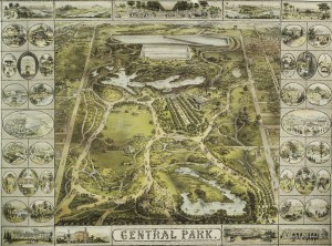 Central Park, 1863. John Bachmann, publisher. From The Lionel Pincus & Princess Firyal Map Division, The New York Public Library.