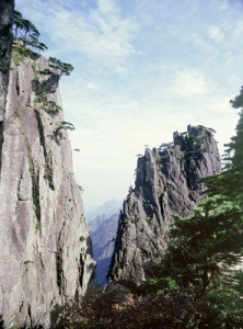 The spectacular mountainscape of Huangshan, Anhui province.   Such scenery has been a source of inspiration for Chinese painting from the Tang dynasty to the present day. Country of Origin: China. Credit Line: Werner Forman Archive.
