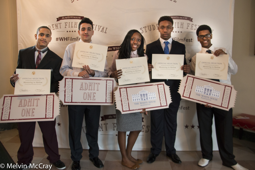 These students from the Digital Media Training Program in Harlem were among 15 winners of the 2nd Annual White House Student Film Festival. Image © Melvin McCray.